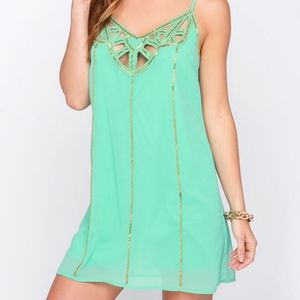Ark & Co. Mint Green Beaded Dress from Lulu's
